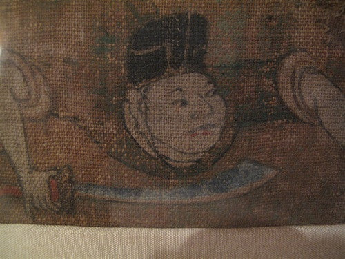 Rare Antique 18th Century Chinese Painting on Linen