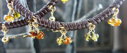 Cameron Cohen Earring in Brown with Citrines