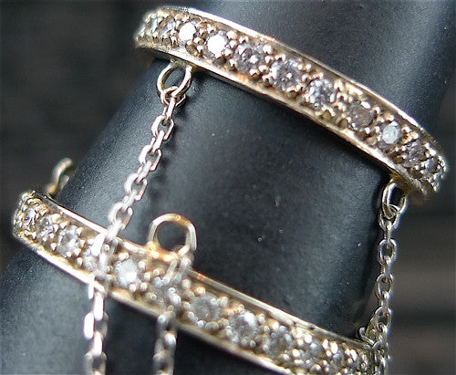 Beth Orduna 14K White Gold and Diamond Slave RIng
