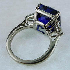 Old Mine AAA Tanzanite and Diamond Ring in Platinum