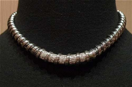 Estate Diamond Collar Necklace 18K White Gold