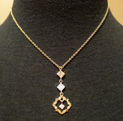 Kamofie Diamond Necklace in Three Tone 18K Gold
