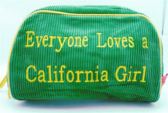 "St. Tropez Lrg. Cosmetic Bag ""Everyone Loves a California Girl"""