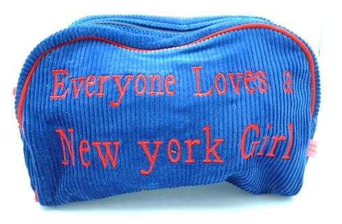 "St. Tropez Lrg. Cosmetic Bag ""Everyone Loves a New York Girl"""