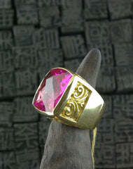 Marisa Perry 18K Yellow Gold and Pink Topaz Marrakesh Crowning Ring