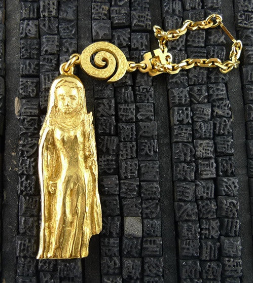 "Robert Goossens Gold-Plate Approx. 3"" Virgo Zodiac Key Chain"