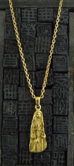 "Robert Goossens Gold-Plate 18"" Libra Zodiac Necklace"