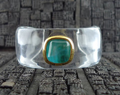 Robert Goossens Green Resin Cuff