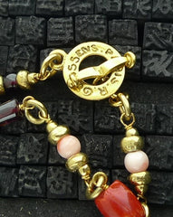 Robert Goossens 24K Yellow Gold Vermeil and  Coral Necklace