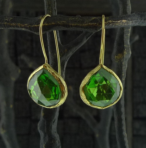 Coralia Leets Avocado Green Earrings