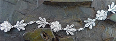 Jamie Wolf 18K White Gold Flower Diamond Bracelet