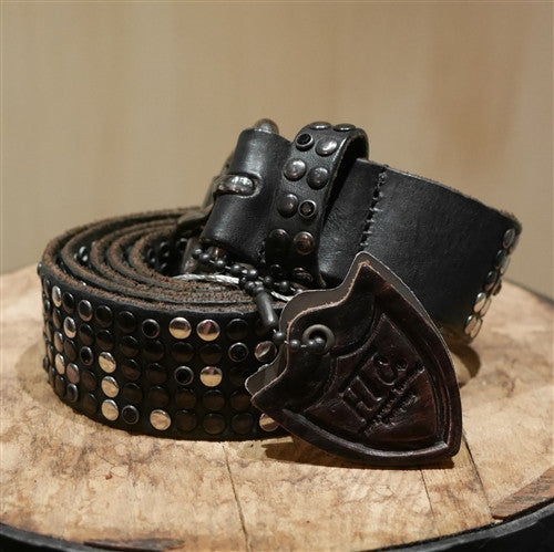 HTC Deluxe Black Nailhead Studded Belt