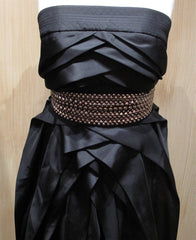 Lie Sang Bong Black Strapless Gown