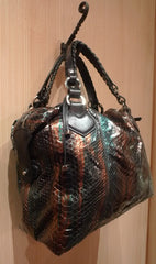 Pauric Sweeney Overnight Bag in Shiny Python