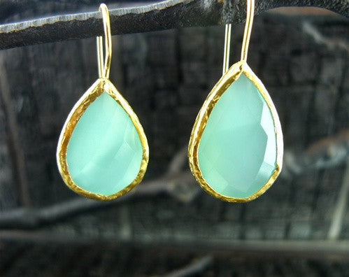 Coralia Leets Yellow Gold Filled Apatite Quartz Earring