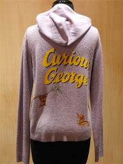 Curious George Zip-Up Hoodie Cashmere Sweater
