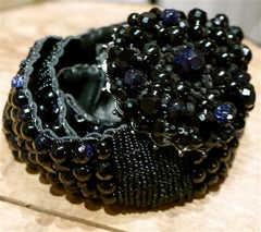 Erickson Beamon Beaded Black Slender Belt