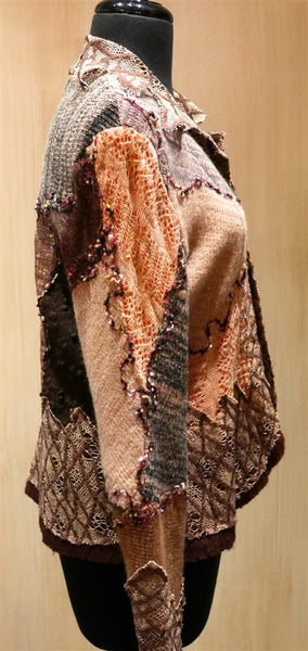Pazuki Portcullis Multicolor Brown Sweater Jacket