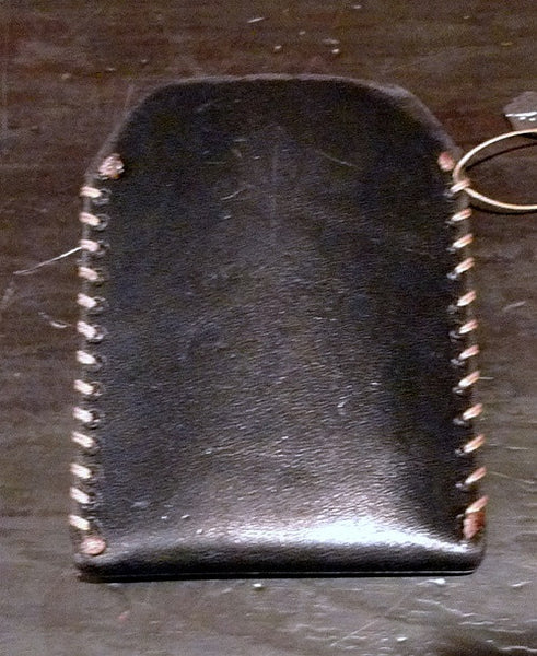 David Winter Black Leather Cell Phone Case with Sterling Silver Cross