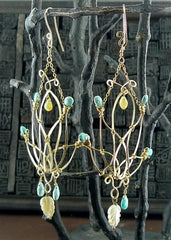 Kuumba Turquoise and Carved Mother of Pearl Earrings