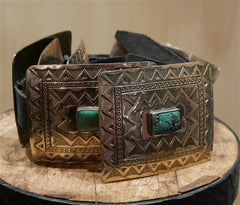 Navajo Reproduction Concho Square Belt