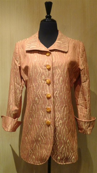 Quadrille Custom Apricot and Gold Dress Riding Jacket