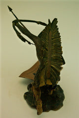 Viennese Coldpainted Bronze American Indian SIgned Bergman