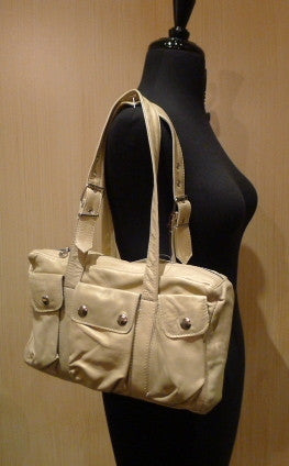 Not Rational Small Cream Shoulder Tote