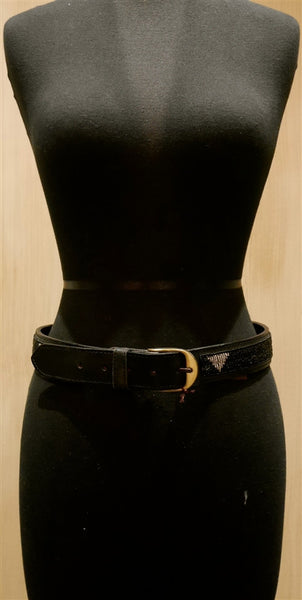 African Beaded Leather Belt