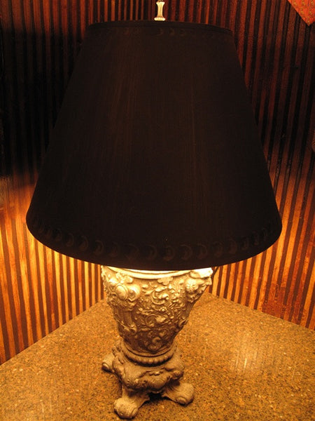19th Century Antique Pewter Table Lamp - One of a Kind