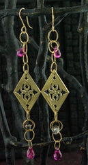 Kamofie 14K Yellow Gold and  Pink Tourmaline Earrings