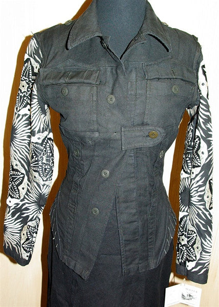 Mayer Jacket with Embroidered Sleeves