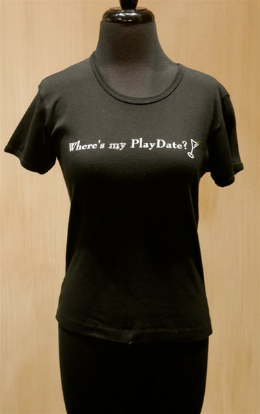 Penelope's Voice Jeweled Short Sleeve T-Shirt- Where's My Playdate?