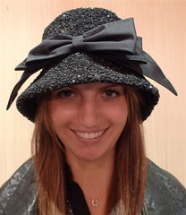 Kokin Sequined Bucket Hat in Black