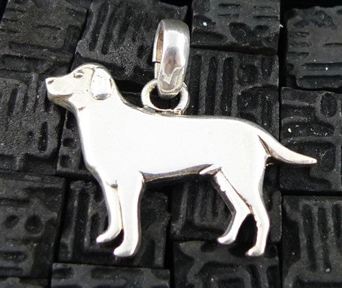 Fine Arf Sterling Silver Dog Charm - Labrador Retriever
