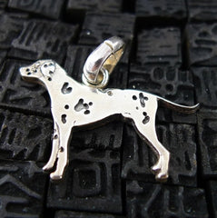 Fine Arf Sterling Silver Dog Charm -Dalmation