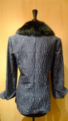 Quadrille Custom Blue and Black Hacking Jacket with Black Sable Collar
