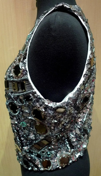 Sunjoo Moon Embroidered Sequins, Crystals & Mirror Vest