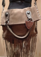 HTC Rainbow Studded Suede Fringe Purse and Tote