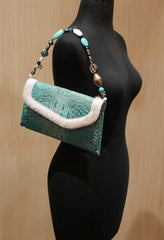 Malaika Turkish Delight Beaded Clutch