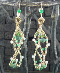 Raphaela Pasqualina Jade and Agate Earrings