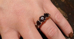 Nava Zahavi Smoky Quartz Ring in 14K Rose Gold