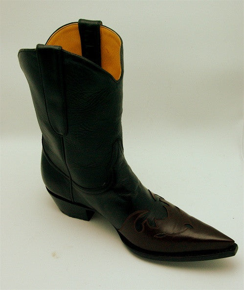 Old Gringo Black and Brown Boston Boot