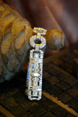 Art Deco Platinum and Diamond Bracelet Circa 1935