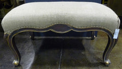 Emelie's Louis Window Bench or Ottoman with Burlap Fabric