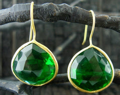 Coralia Leets Amazon Green Quartz Earrings
