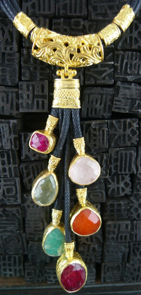Istanbul Multi Colored Druzy Necklace