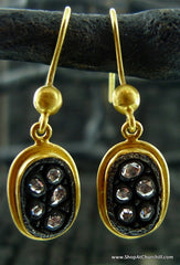 Yossi Harari Sara 24K Yellow Gold and Rose-Cut Diamond Earrings