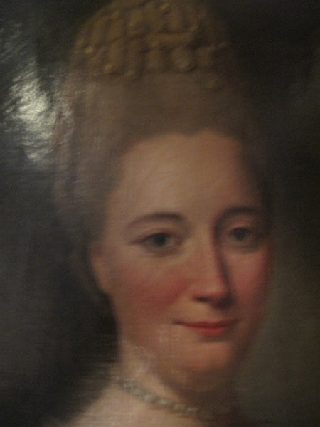 Antique Rare Portrait of a Regal Lady, 18th Century Oil on Canvas attributed to Henrick Tischbein