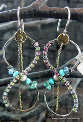 Beth Orduna Mixed Stone Figure 8 Earrings